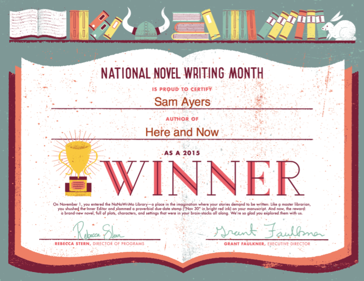 NaNo Win 2015
